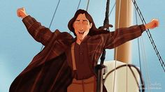 Disney Characters if they starred in Titanic. Done for @cosmopolitan