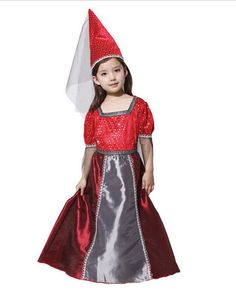 Fashion Cosplay Grils Magic Witch Costume Suit Children Clothing for Masquerade Party