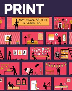 PRINT magazine cover by New Visual Artist Siobhaán Gallagher  #design #art #inspiration