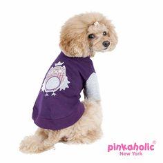 Midnight Dog Shirt by Pinkaholic - Purple