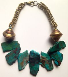Chrysocolla Statement Necklace. Retail: $450