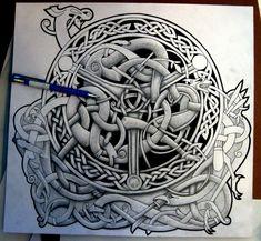 Celtic Tattoos For Men, Irish Tattoos, Scottish Tattoos, Norse Mythology Tattoo, Norse Tattoo, Tattoo Celtic, Celtic Symbols, Celtic Art, Celtic Knots