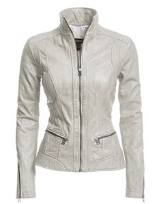 Understated and luxurious, this washed lamb leather jacket with ...