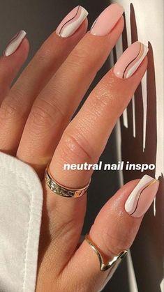 Beige Nails, Neutral Nails, Nude Nails, Gel Nails, Beige Nail Art, Oval Nail Art, Chic Nails, Stylish Nails, Swag Nails