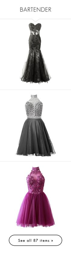 """""""BARTENDER"""" by fluorescent-last-kiss ❤ liked on Polyvore featuring dresses, gowns, long dress, prom ball gowns, lace evening gowns, long lace dress, sheer lace dress, long evening dresses, homecoming dresses and halter top"""