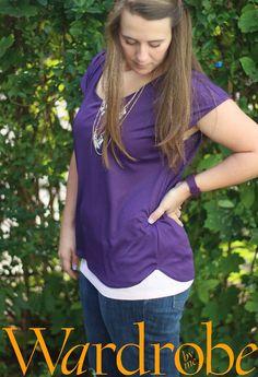Tshirt and top PDF e book sewing pattern/womens Tee PDF\t-shirt pdf women/Wardrobe by me/ 2-16\32-46/Tee pattern women/womens tshirt pattern - pinned by pin4etsy.com