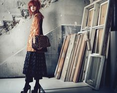 I love dilapidated backgrounds paired with #fashion.  #BelleÉpoque featured on #honestlyWTF