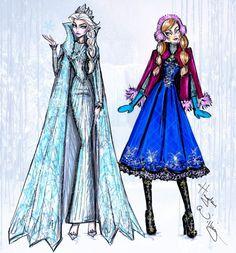 Disney Divas 'Holiday' collection by Hayden Williams: Elsa Anna http://gerald-pilcher.com