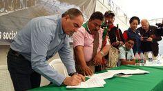 as comunidades indígenas manifestaron su complacencia con la refrendación del acta de los acuerdos pactados, donde se espera la construcción del instrumento jurídico que les permita consolidar el control del cumplimiento de los acuerdos.