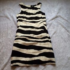 Carole little zebra dress   zebra dress   Size 8  Gently used   black and cream   Please ask for additional pictures, measurements, or ask questions before purchase.  No trades or other apps  Ships next business day, unless noted in my closet   Bundle for discount Carole Little Dresses