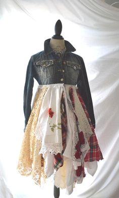 Bohemian Duster Romantic coat Americana Rock by TrueRebelClothing
