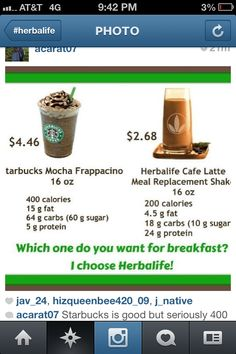 As Much as I LOVE Starbucks!! Sometmes sacrifices have to be made! #Herbalife <3 ttps://www.goherbalife.com/tthomp/