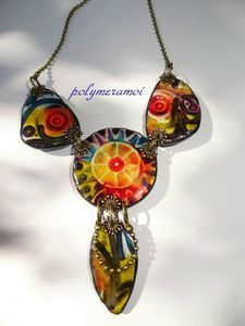 tribal style brights necklace