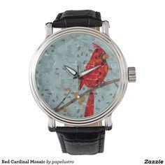 Red Cardinal Mosaic Wristwatches