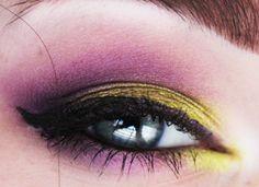 Gold & Purple. #makeup