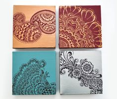 henna wall decor