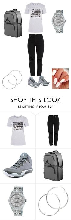 """Untitled #212"" by edatgirl ❤ liked on Polyvore featuring Oh My Love, Jordan Brand, Rolex and Melissa Odabash"