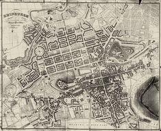 Edinburgh 1830 Map  -  Large