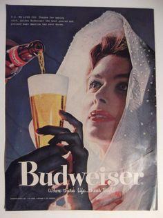 1957 BUDWEISER beer ad
