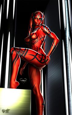 Obvious Winner - So Easy To See The Awesomeness - ow - Dark Side Nerdgasm: 3D 'Darth Talon' is one Badass Sexy Lady Sith