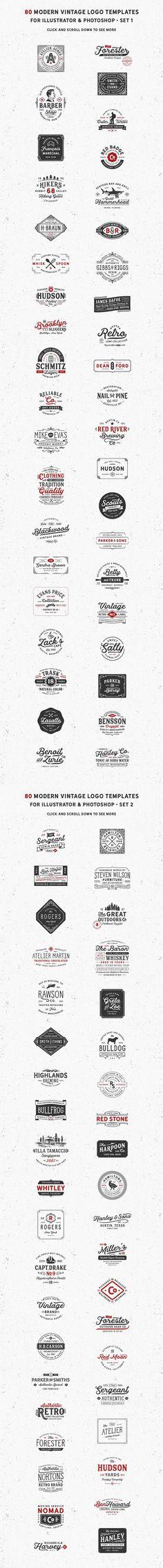 80 Modern Vintage vector Logos download @pixlov