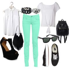 mint green jeans made easy!