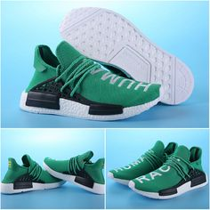 0198cef1deeb2 Cheap Shoes For Sale 39-45 Adidas NMD Human Race Male Dark Green and White