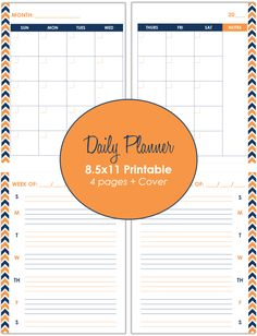 Customizable Daily Planner Printable Great For Todo Lists And Busy - Custom daily planner