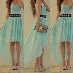 Simple Green Chiffon Asymmetrical Prom Dress, Bridesmaid Dress, Homecoming Dress from Sweetheart Girl Aqua Prom Dress, Grad Dresses, Homecoming Dresses, Casual Dresses, Bridesmaid Dresses, Summer Dresses, Mint Dress, Bridesmaids, Summer Clothes