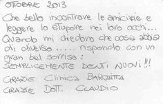 """www.clinicabarchitta.it It's amazing to meet your friends and read the wonder in their eyes. When people ask me what has different I answer with a great smile, """"just new teeth""""! Thanks Clinica Barchitta, thanks Dr. claudio."""