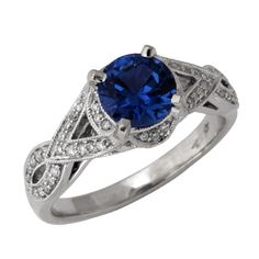 Yogo Sapphire Engagement Ring