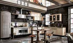 Steampunk Design Tips | Retro kitchen interior decorating ideas, vintage decor with steampunk ...