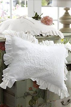 Make your home beautifully cozy with luxury bedding & home decor from Soft Surroundings. From knit blankets to throw pillows, shop from our timeless bed & home decor collections today. Shabby Chic Bedrooms, Shabby Chic Cottage, Shabby Chic Decor, Bedroom Bed, Master Bedroom, Bedroom Decor, Bedding Decor, Cotton Bedding, Master Bedrooms