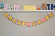 Bride to Be Banner  Yellow & Coral by JKreations2013 on Etsy, $16.50