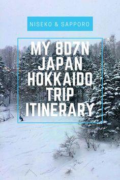 My 8D7N Japan Hokkaido Trip Itinerary - Ski at Niseko and Free & Easy at Sapporo