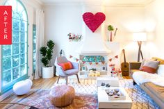 Before & After: Corinna & Eugenia's Playful Living Room — #MakeoverAmerica 2015 | Apartment Therapy