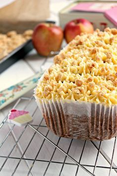 Jam and Clotted Cream: Apple Crumble and Custard Loaf Cake Baking Recipes, Dessert Recipes, Desserts, Tray Bake Recipes, Cheesecake Recipes, British Pudding, Apple Coffee Cakes, Apple Cakes, Custard Cake