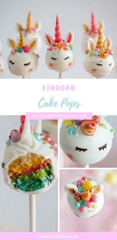 Enchanting and timeless: unicorn cake pops- Zauberhaft und zeitlos: Einhorn Cake Pops Enchanting and timeless: unicorn cake pops via cinnamon … - Dessert Party, Cake Pops Stiele, Cake Smash, Backen Baby, Elegante Desserts, Unicorn Cake Pops, Pear Cake, Apple Smoothies, Salty Cake