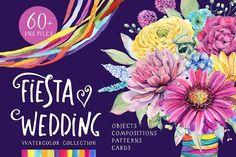 FIESTA WEDDING watercolor set by Lemaris on @creativemarket