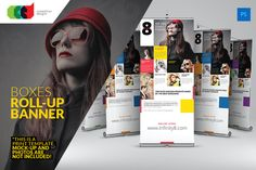 Check out Boxes Roll-Up Banner by Cooledition on Creative Market