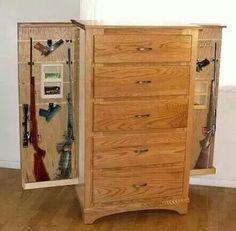 Furniture with Hidden Gun Cabinet Hidden Gun Safe, Hidden Gun Storage, Weapon Storage, Secret Storage, Extra Storage, Hidden Spaces, Hidden Rooms, Hidden Compartments, Secret Compartment