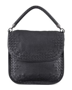 Cervo Medium Flap Shoulder Bag, Black by Bottega Veneta at Bergdorf Goodman.