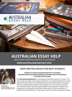 There are allot of essay writing service in the world , we are now providing australian essay help to busy students who not able to write their homework  #Essay #Essayhelp #Australia #AustralianEssayHelp   Visit : https://www.australianessayhelp.com/