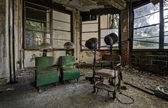Photos Of Abandoned Asylums -- If I were to visit you'd never get me out of there. Love these images! Sadness in the decay, but beauty, too, somehow.