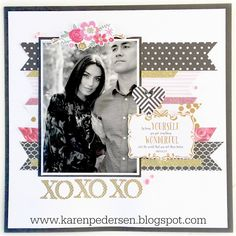 #papercrafting #scrapbook #layouts: Karen Pedersen: Wedding Sign In Book for Kira and Maihi