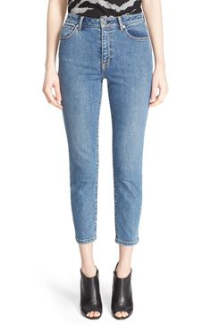 Burberry Brit High Rise Slim Crop Jeans $250.00  # #relevant #WomensClothing