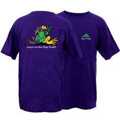 New! - Peace Frogs Mardi Gras Frog Short Sleeve T-Shirt | Positively Peaceful Shirts, Jewelry & Gifts from Peace Frogs