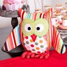 Owl soft toy and cushion pattern