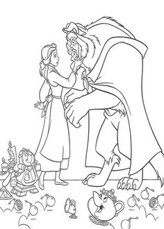 The Beast Meet The Beautiful Belle Coloring Pages Belle Coloring Pages, Disney Princess Coloring Pages, Disney Princess Colors, Cartoon Coloring Pages, Printable Coloring Pages, Adult Coloring Pages, Coloring Sheets, Coloring Books, Elephant Coloring Page