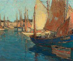 blastedheath:  Edgar Payne (American, 1882-1947), Brittany Boats, c.1923. Oil on canvas, 25 x 30 in.